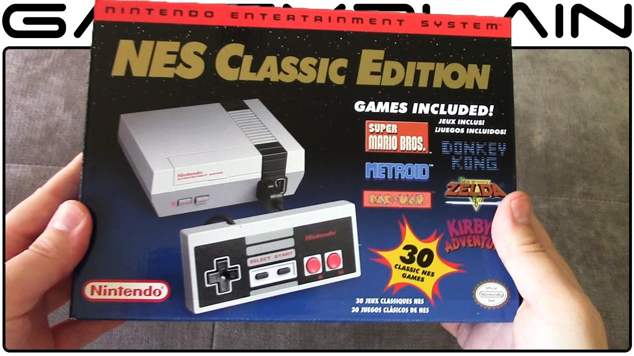 Nes Classic Edition Unboxing Youtube