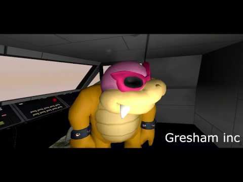 Gmod Mario in the plane crash