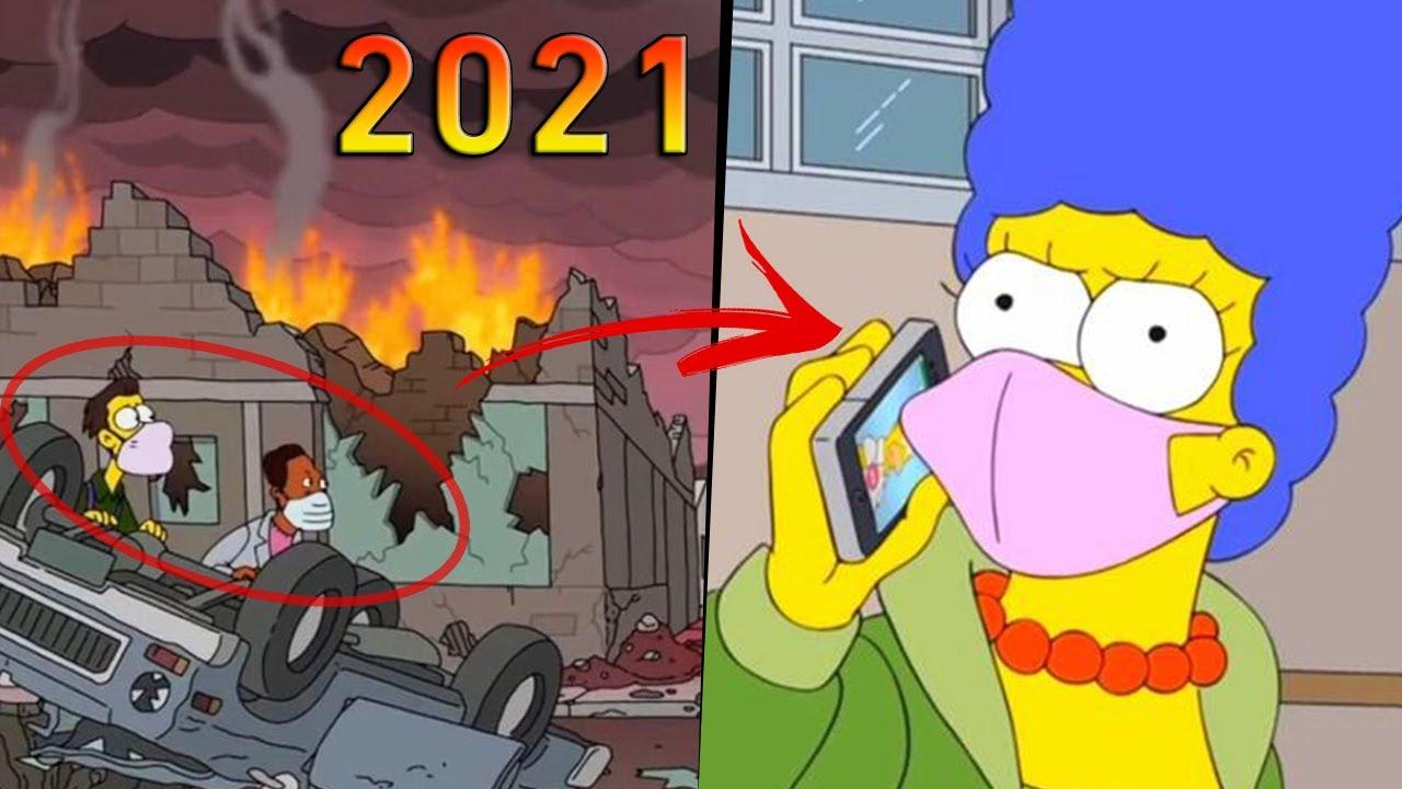 لن تصدق تنبؤات مسلسل سيمبسون عن عام 2021 - نرجوا الله ألا تصبح حقيقة !!