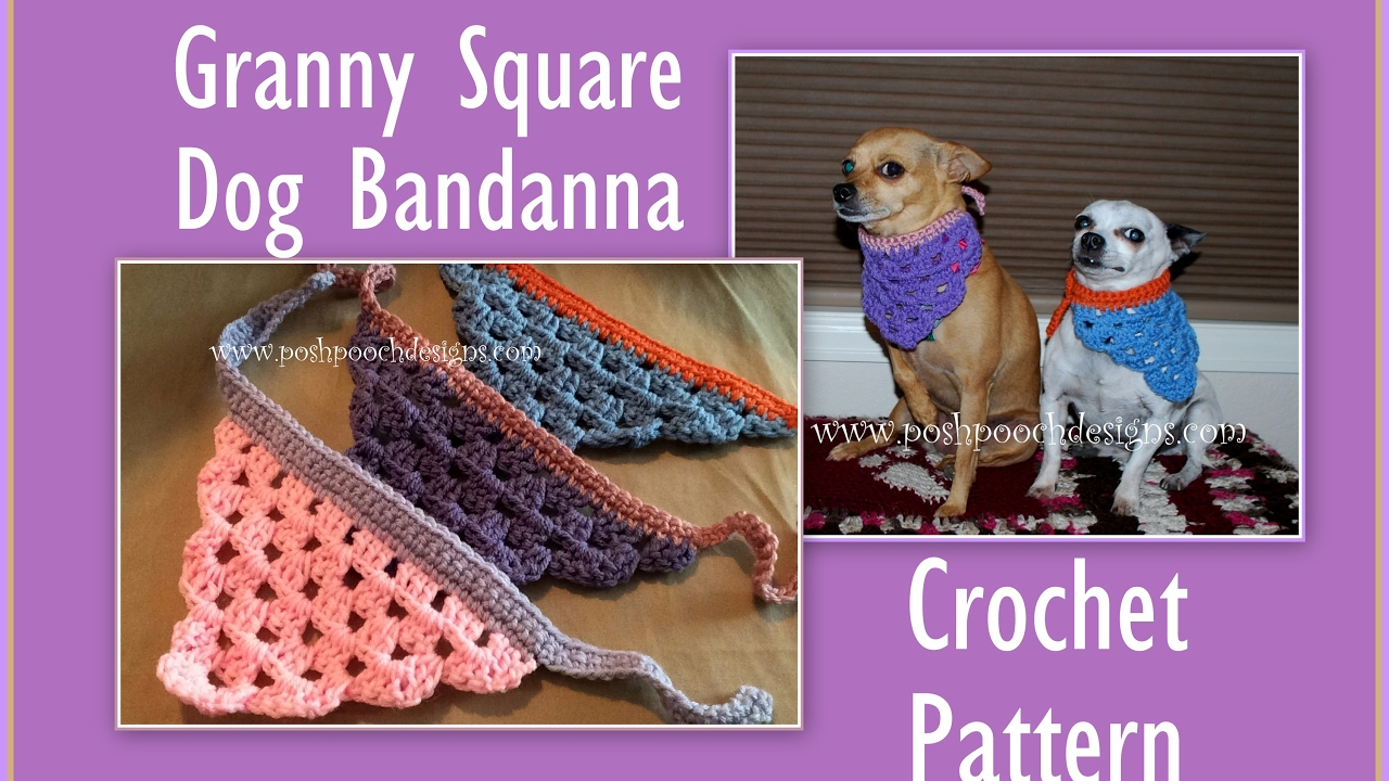 Granny Square Dog Bandanna Crochet Pattern - YouTube
