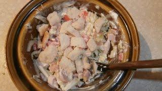 Очень нежный салат из Пекинской капусты, красной рыбы и