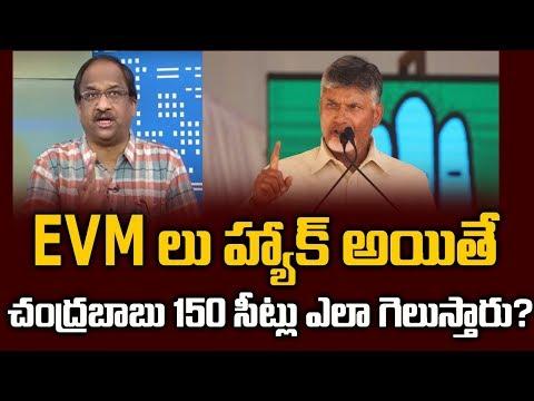 EVM లు హ్యాక్ అయితే చంద్రబాబు 150 సీట్లు ఎలా గెలుస్తారు?||Chandrababu Naidu on EVMs Hacking||
