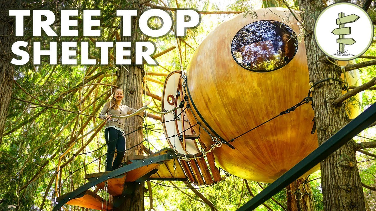 Most Amazing Tiny Round Tree House Fully Suspended in the Air