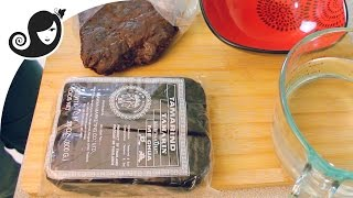 How to Deseed &amp Prepare Tamarind Pulp or Paste from a Block of Tamarind