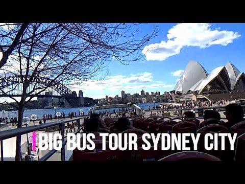 Big Bus Tour around Sydney City Australia 2018