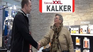 Preisübergabe von Fahrrad XXL Kalker Ludwigshafen an den Gewinner des MRN Quiz  Frankenthal