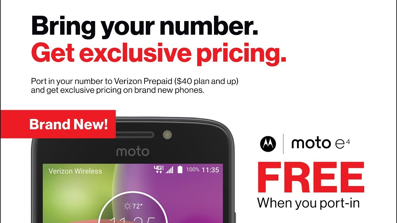 Verizon Prepaid Exclusive Pricing for Port-In