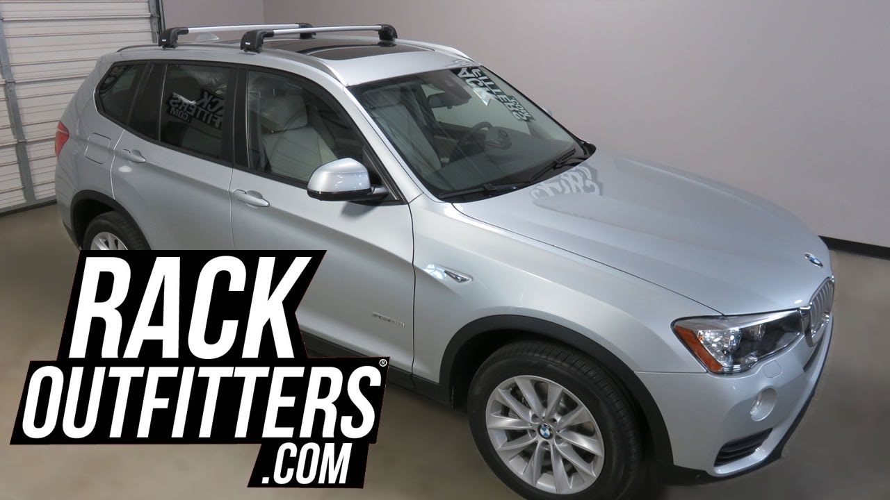 Bmw X3 With Thule Aeroblade Edge Roof Rack Crossbars Youtube