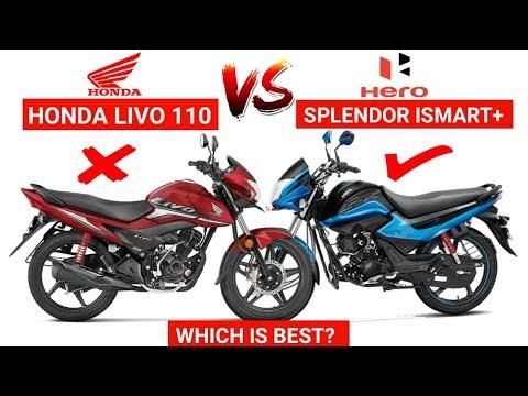 2019 Honda Livo Vs Hero Splendor ismart+   Comparison   Mileage   Which is Best?   Features