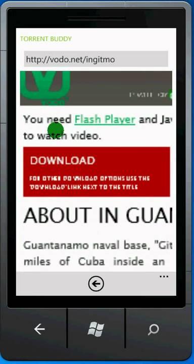 Torrent Buddy (Windows Phone 7 Utorrent Client App)