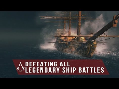 Assassin's Creed Rogue - Defeat All Legendary Ships Battle - Formidable, Storm Fortress and etc.
