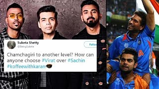 Twitter Reaction: Virat को बताया Sachin से बेहतर, फैंस ने लगा दी क्लास   Sports Tak