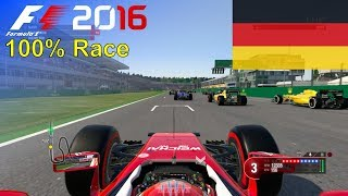 F1 2016 - 100% Race at Hockenheimring in Räikkönen's Ferrari