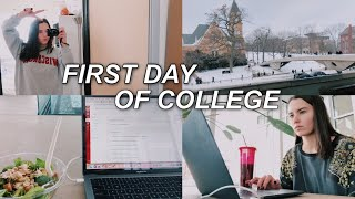 FIRST DAY OF COLLEGE VLOG! | university of wisconsin