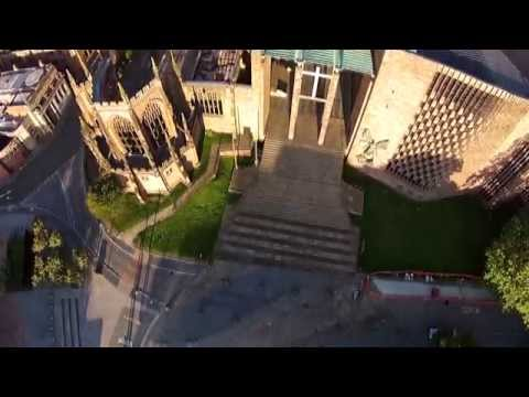 Coventry Cathedral, Swanswell Park & War Memorial Park 4K Aerial