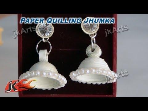 DIY How to make Paper Quilling Jhumka | JK Arts  295