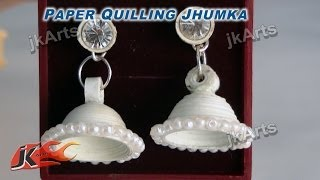 DIY Paper Quilling Jewelry Jhumka |  How to make | JK Arts  295