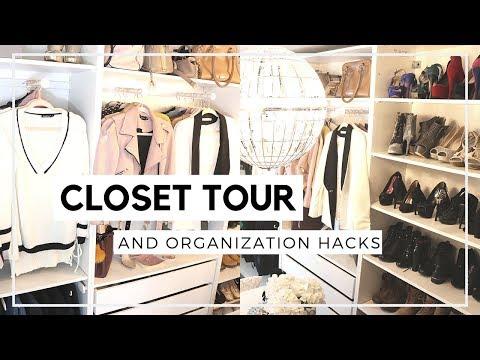 My Closet Tour and Organization Hacks 2019