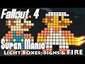 Fallout 4: Super Mario Billboard Sign! (With special function)   Settlement & LightBoxes