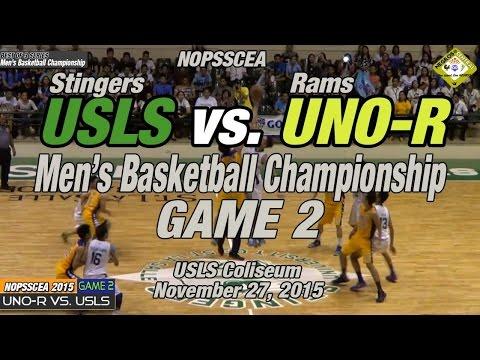 USLS vs UNO-R Game 2 of 3, Basketball Championship