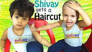 Shivay gets a Haircut | Kids Haircut at home | Kids Haircut gone wrong | Hair style for children