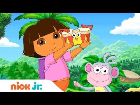 'Musical Melodies' 🎤  Music Video w/ Dora the Explorer & Bubble Guppies (German)   Nick Jr. Sings 🎶