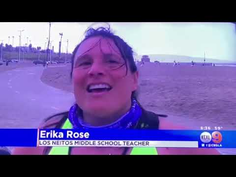 KCAL 9: Los Nietos Middle School at the SRLA Cross the Finish Line Challenge