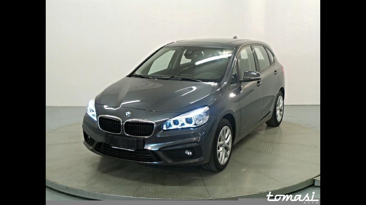bmw 218d active tourer mineral grau metallizzato youtube. Black Bedroom Furniture Sets. Home Design Ideas