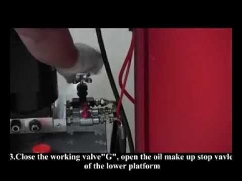 Platform Adjustment Guide For Scissor Lift B30 B30Y Z30 Z30Y