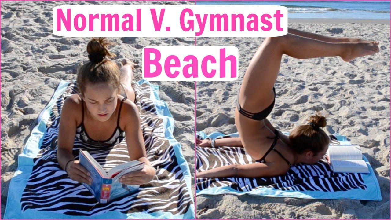 Normal bikinis on the beach