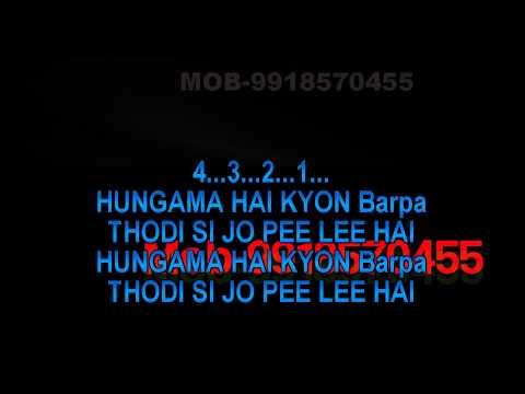 Hungama Hai Kyun Barpa Karaoke  Ghulam Ali Tabla Style