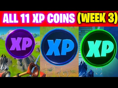 All XP COINS LOCATIONS IN FORTNITE SEASON 3 Chapter 2 (WEEK 3)