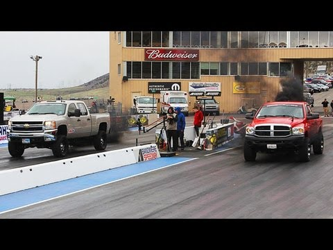 1/4 Mile Drag Race and Fuel Economy - Day 3 of Diesel Power Challenge 2013!