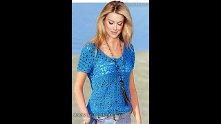 Женские Ажурные Летние Кофточки Крючком - 2019 / Women's Openwork Summer Blouses Crochet