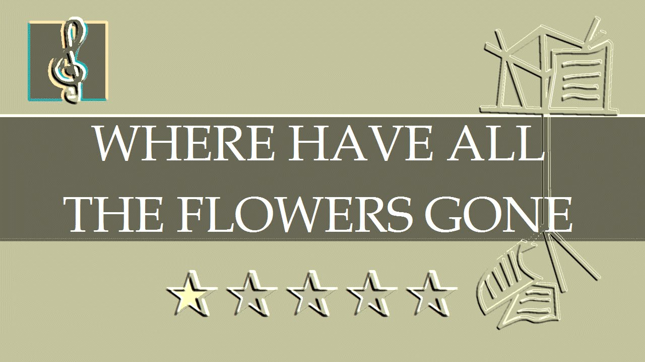sheet music where have all the flowers gone pdf