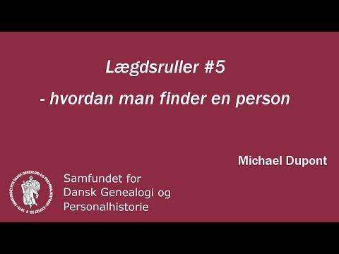 Lægdsruller 5 - hvordan man finder en person