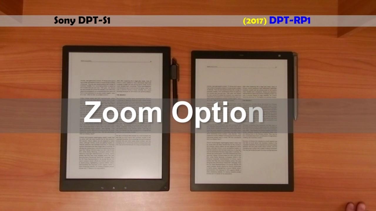 Kindle Vs Sony Reader: Sony Digital Paper (DPT-S1) Vs DPT-RP1 (Digital Paper 2nd