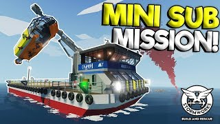 SEARCHING FOR A SUNKEN SHIP IN A SUB! - Stormworks: Build and Rescue Update Gameplay