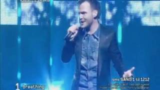 Danish (Melodi Grand Prix) Eurovision 2010. Bryan Rice - Breathing