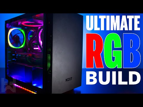 The NZXT H210i Ultimate RGB Gaming PC Build 2019 - Rainbow Giggidy Box