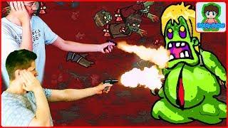 босс с личинками в игре про зомби приключения видео для детей про мульт героя зомби gibz