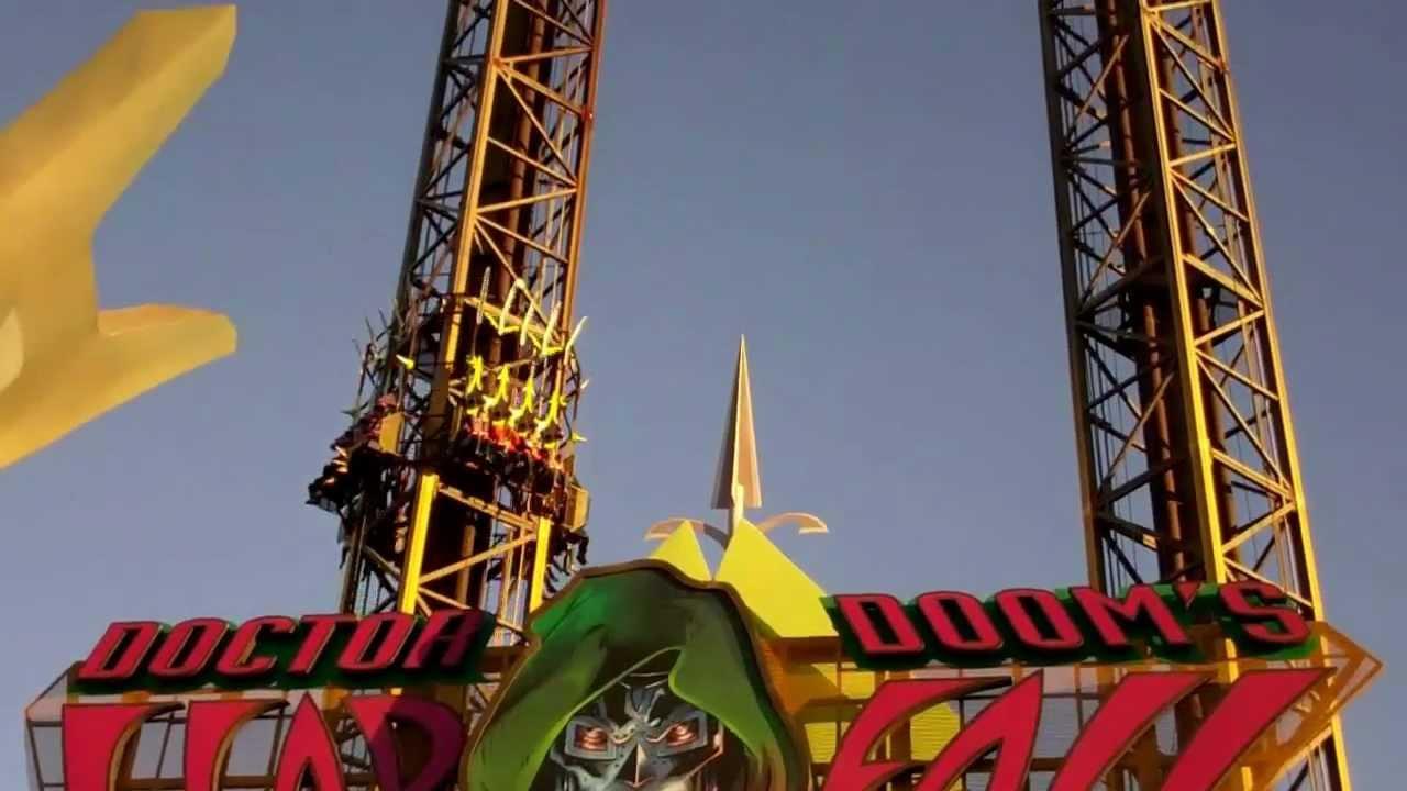 Doctor Doom's Fearfall Islands Of Adventure 2012 HD Off ...