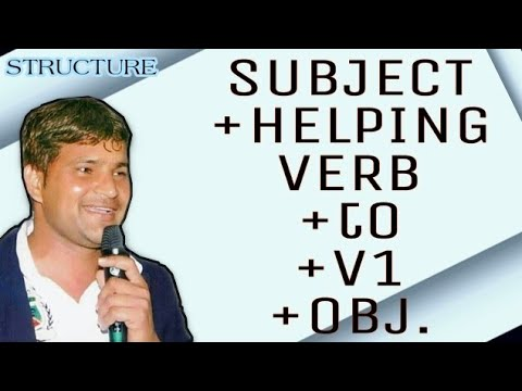 sub+h.p-verb+to+-v1+obj.-  -structure-  -azad-gautam-  -english-grammar  -english-speaking-course  