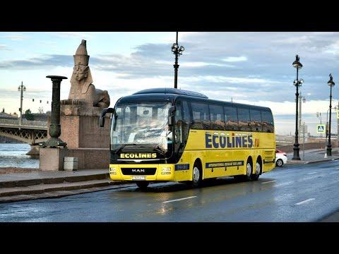Из Минска в Санкт Петербург на автобусе Ecolines
