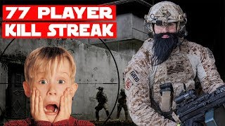 TRIGGERED Airsoft Player Calls Me Out For Using Full Auto!?? - 77 Player Airsoft KILLSTREAK