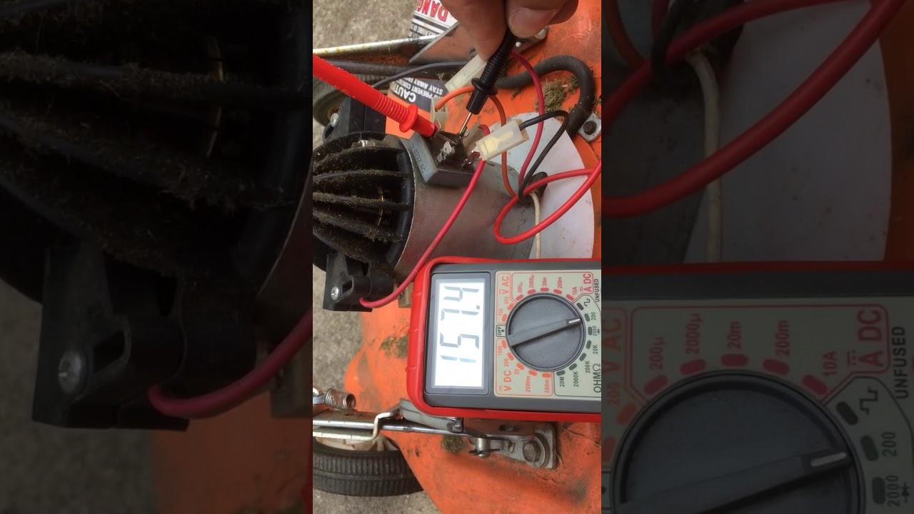 Testing The Bridge Rectifier On Electric Mower Youtube Lawn Wiring Diagram