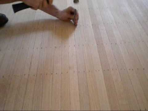 Setting Nails On A Face Nailed Hardwood Floor Youtube