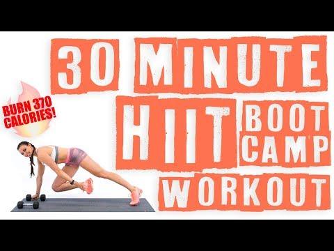 30 Minute HIIT Bootcamp Workout 🔥Burn 370 Calories! 🔥