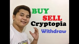 Cover images How To Trade on Cryptopia (Buy, Sell & Withdraw - Tagalog)