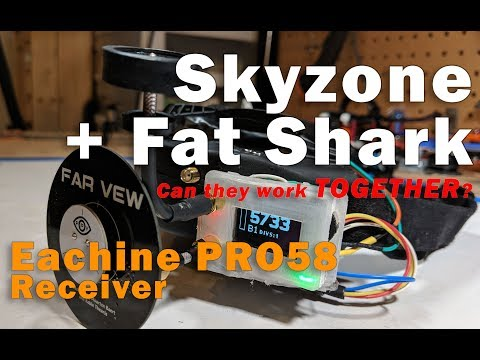 Skyzone goggles with Fat Shark reciever!